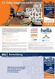Ausschreibung 2014 - Rostocker Marathon Nacht, Rostock