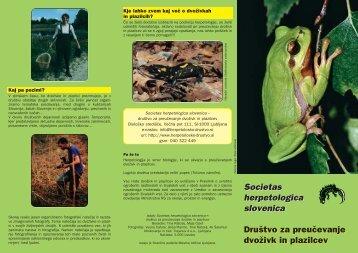 Societas herpetologica slovenica Druøtvo za preuœevanje dvoæivk ...