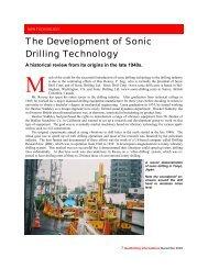 The development of Sonic Drilling Technology - Sonic Drilling Ltd.