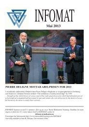 Mai 2013 - Norsk matematisk forening