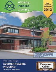 July, August & September 2013 - Albany Public Library