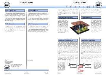 Anl. CAN Bus Power - AMW