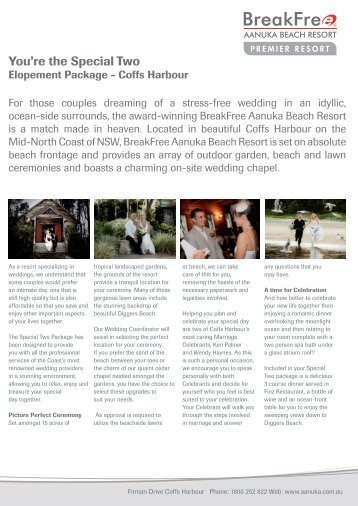 Elopement Package.indd - MGHotels.com.au