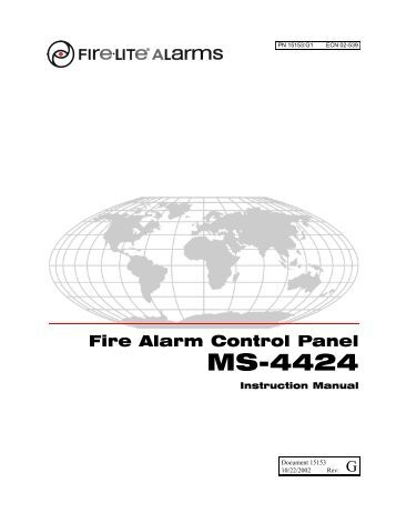Fire lite ms 9200udls manual