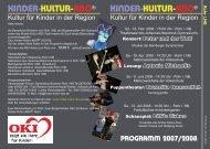 Flyer Rohr i.NB. - Kinder-Kultur-ABO