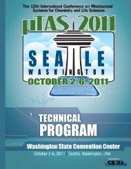 Technical Program - MicroTAS Conferences