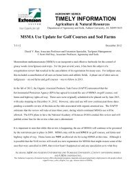 MSMA Update for Golf Courses and Sod Farms - Alabama ...