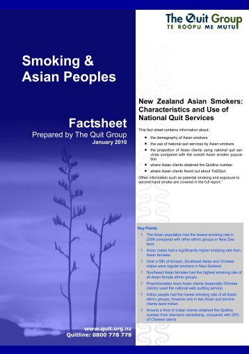 Smoking & Asian Peoples - Quitline
