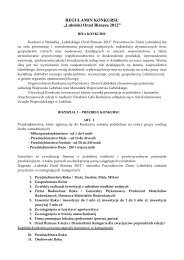 "REGULAMIN KONKURSU ""Lubelski Orzeł Biznesu 2012"" - Lublin"