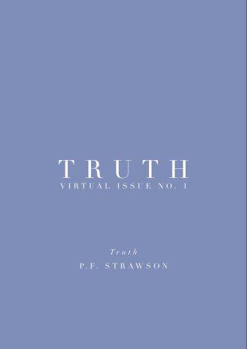 P. F. S T R AW S O N VIRTUAL ISSUE NO. 1 Truth - The Aristotelian ...