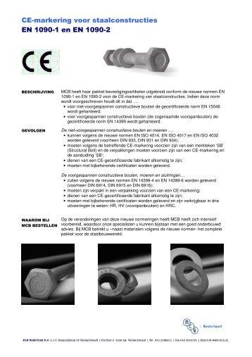 CE-markering voor staalconstructies EN 1090-1 en EN 1090-2