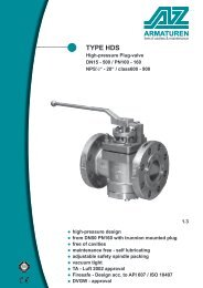 TYPE HDS Plug-Valve high-pressure design