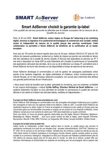 Smart Adserver choisit la garantie ip-label