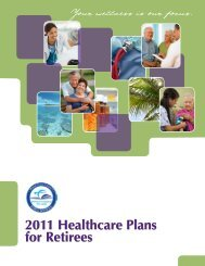 2011 Healthcare Plans for Retirees - Risk Management - Miami ...