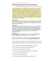 Vorming Interculturele Communicatie - Zorgnet Vlaanderen