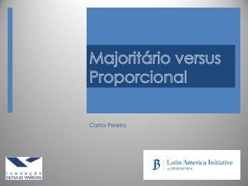 Majoritário versus Proporcional - Fecomercio
