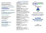 Segreteria organizzativa: - ANGSA Lombardia ONLUS
