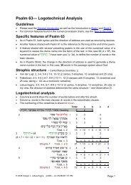 Psalm 63-- Logotechnical Analysis - labuschagne