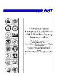 Reconciling Federal Emergency Response Plans – NRT Homeland ...