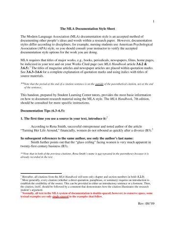 in essay citation mla examples valencia