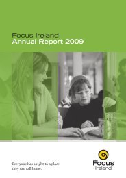 Download the 2009 Annual report here - Focus Ireland