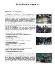 Protection de la population - Ville de La Chaux-de-Fonds