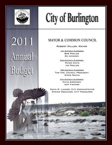 2011 Working Budget - City of Burlington