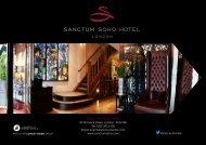 Events Brochure - Sanctum Soho Hotel