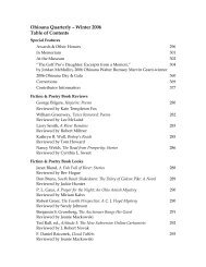 Ohioana Library: Ohioana Quarterly Winter 2006 Table of Contents