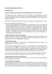 Rammer for kandidatspecialer - Det Samfundsvidenskabelige Fakultet