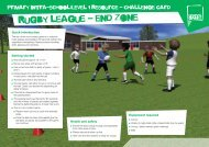 Rugby League challenge card - School Games