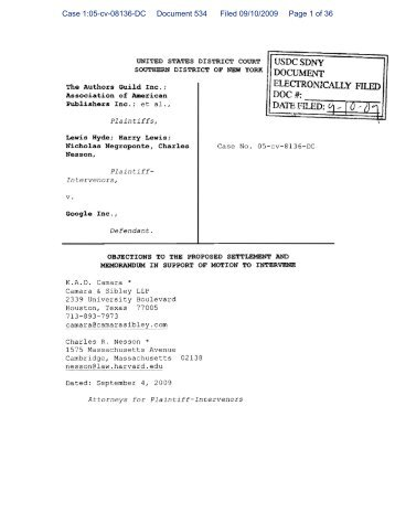 Case 1:05-cv-08136-DC Document 534 Filed 09 ... - The Public Index