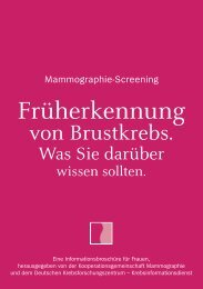 Mammographie-Screening. Früherkennung von Brustkrebs. Was Sie ...