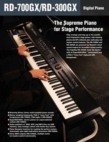 RD-700GX/-300GX Brochure - Roland