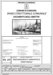 Inquadramento urbanistico - Provincia di Ferrara