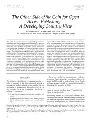 The Other Side of the Coin for Open Access Publishing – A ... - Libri