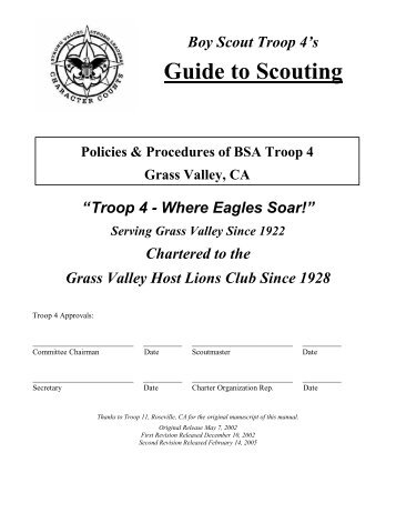 Troop 4's Guide to Scouting - Second Revision - Foothill.net