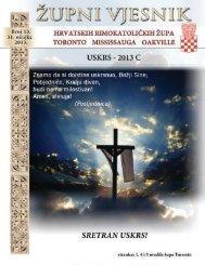 31. ožujka 2013 – Uskrs - Župa Naše Gospe Kraljice Hrvata