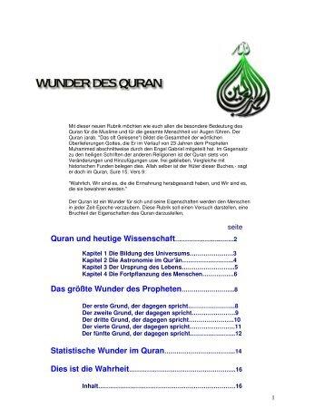 Wunder im Quran - Way to Allah