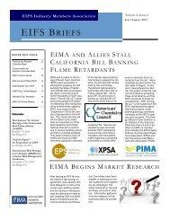 EIFS Briefs - July-August 2013 - Vol 4 - Issue 6 - EIMA