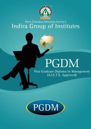 Post Graduate Diploma In Management - Indira Institutes