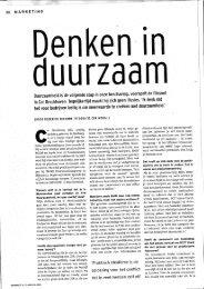 Page 1 38 MARKETING ' - Duurzaamheid is de volgende stap in ...