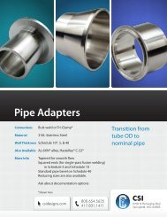 Sanitary Clamp Pipe Adapters