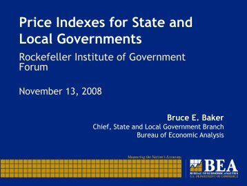Price Indexes for State and Local Governments - The Nelson A ...