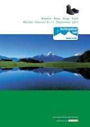 Wander-Festival 9.–11. September 2011 - Berchtesgadener Land