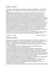 Protokoll vom 14.12.75 1. Begrüßung 2. Verlesung des letzten ...