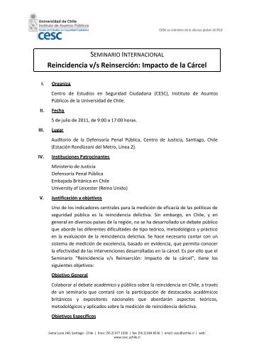 Programa Completo - Centro de Estudios en Seguridad Ciudadana ...