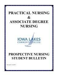practical nursing & associate degree nursing - Iowa Lakes ...