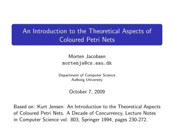 An Introduction to the Theoretical Aspects of Coloured Petri Nets