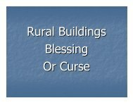 Rural Buildings Blessing or Curse